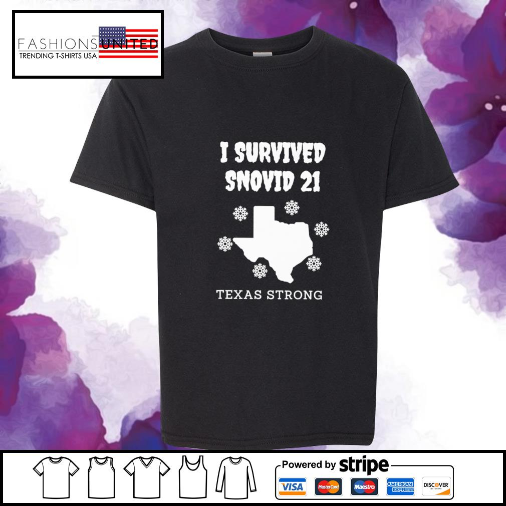I survived snovid 21 texas strong snow s youth-tee