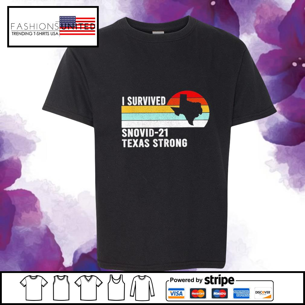 I survived snovid-21 texas strong vintage s youth-tee
