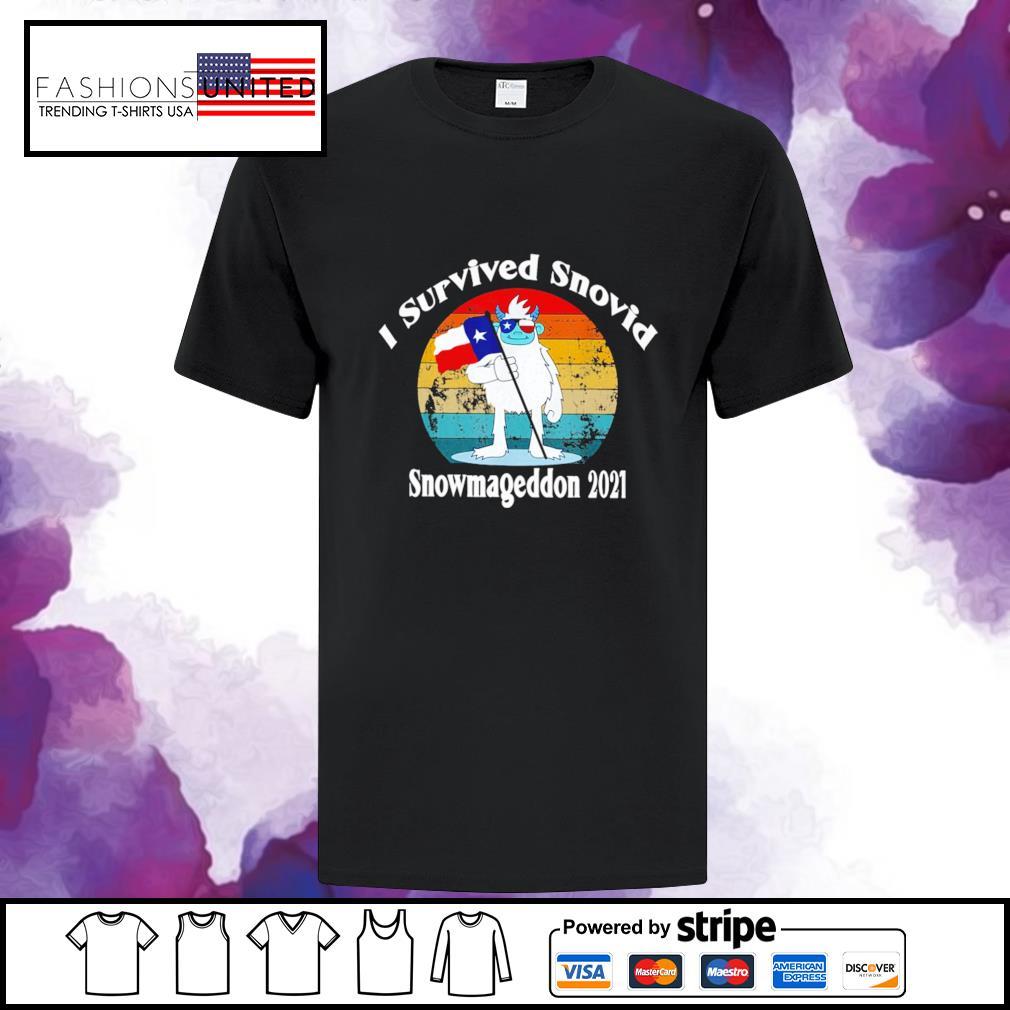 I Survived Snovid snowmageddon 2021 vintage shirt