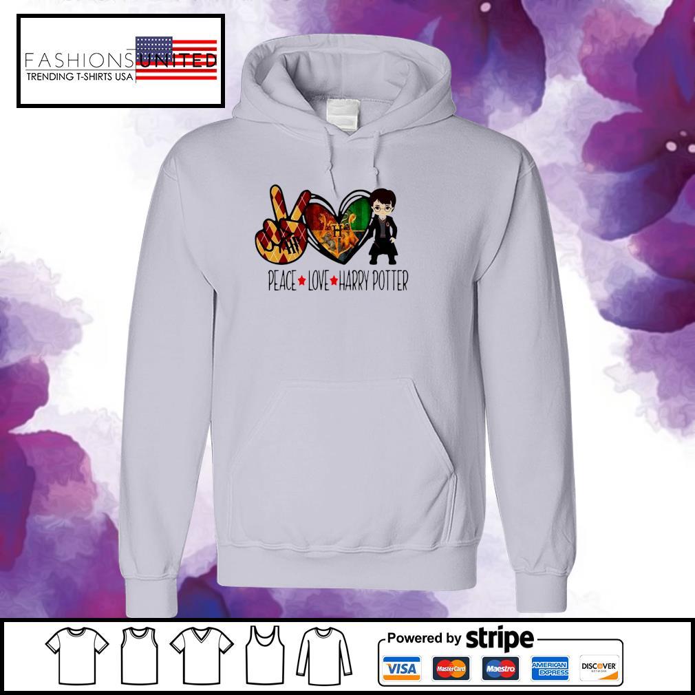 Peace Love Harry Potter s hoodie