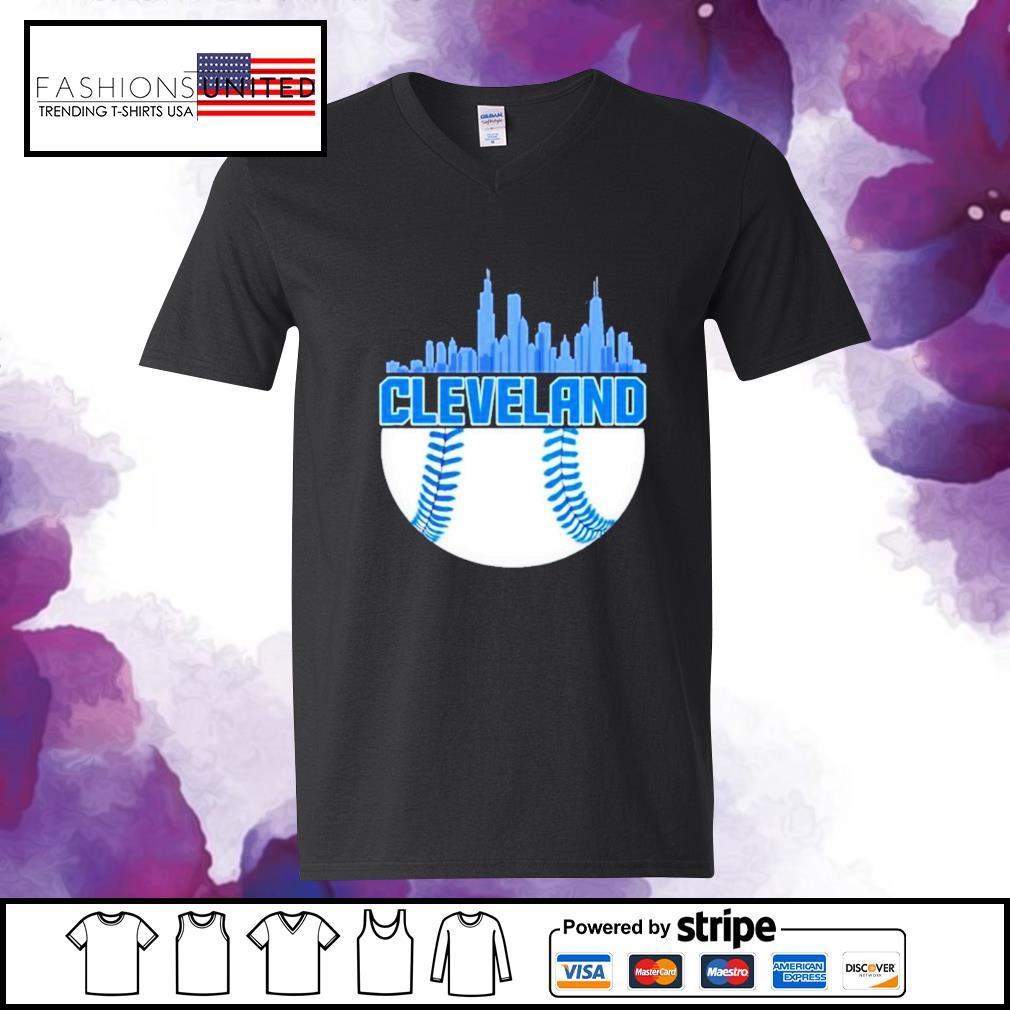 Baseball Cleveland Hometown Indian vintage v-neck-t-shirt