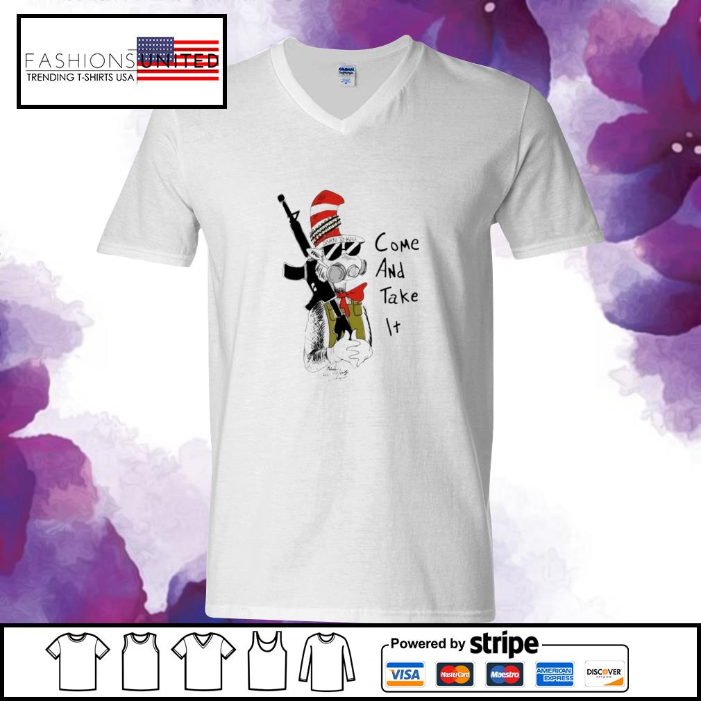 Dr Seuss come and take it v-neck-t-shirt