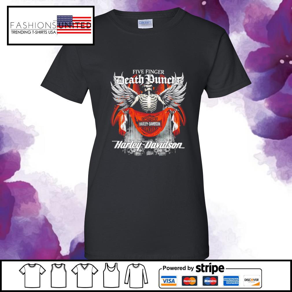 Five finger Death Punch Harley Davidson ladies-tee