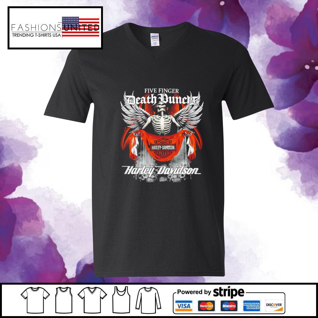 Five finger Death Punch Harley Davidson v-neck-t-shirt