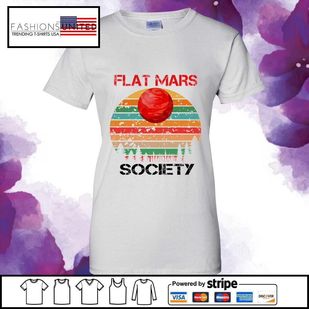 Flat mars society vintage ladies-tee
