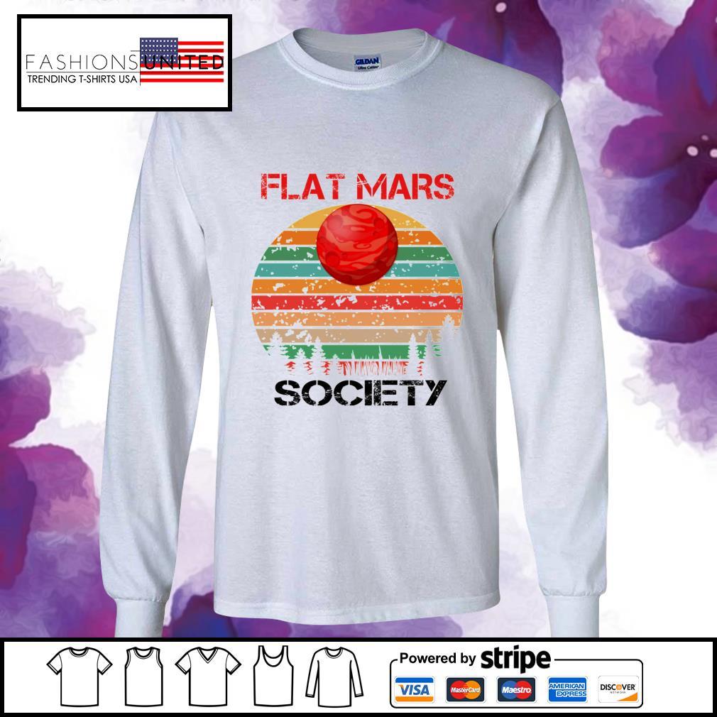 Flat mars society vintage longsleeve-tee