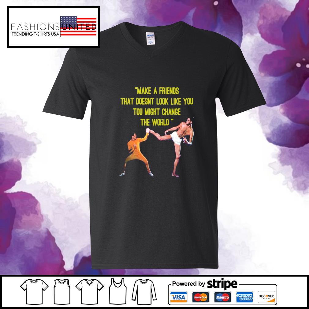 kareem Abdul Jabbar make a friend v-neck-t-shirt