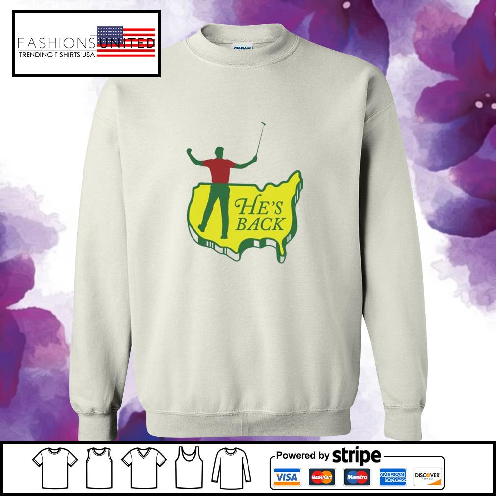 Tiger Woods he's back sweater