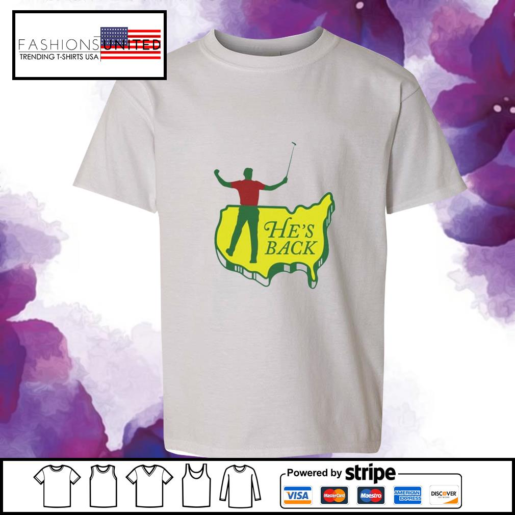 Tiger Woods he's back youth-tee