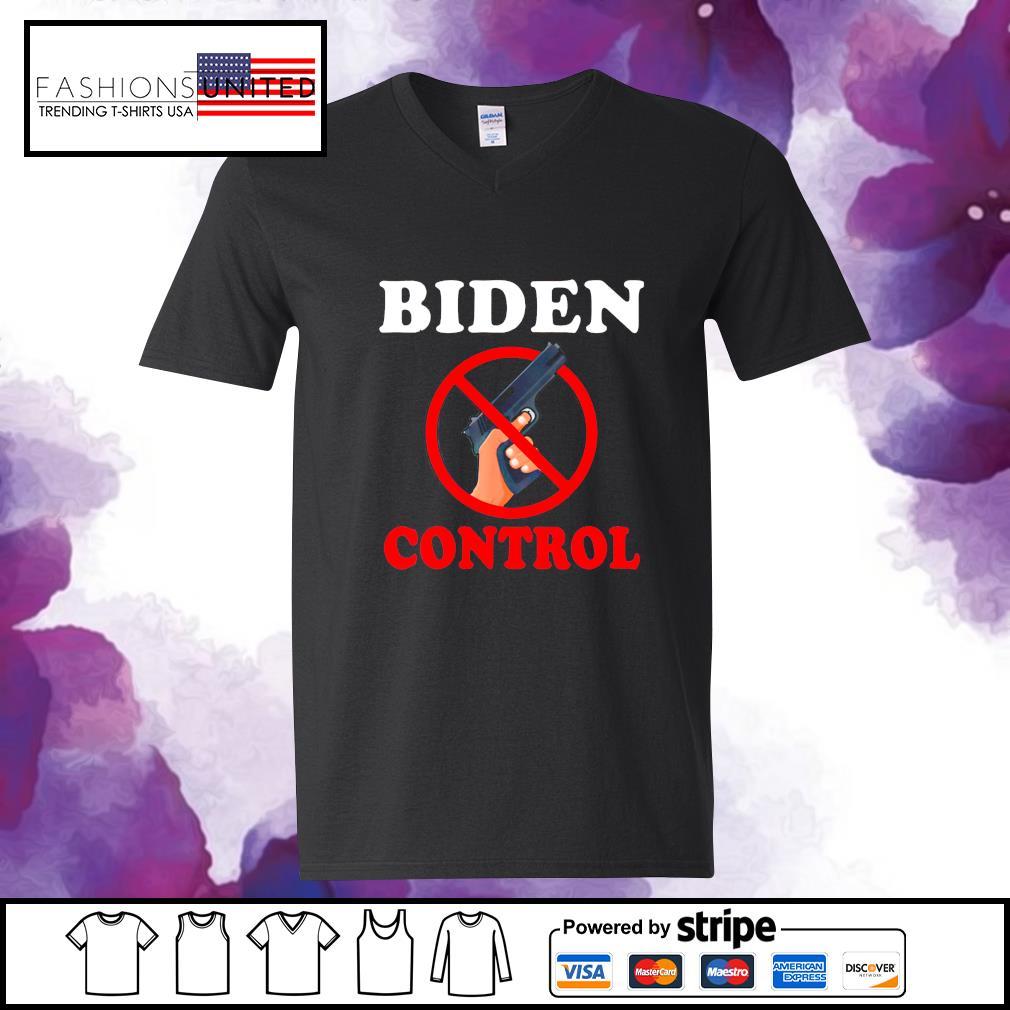 BIDEN gun control s v-neck-t-shirt