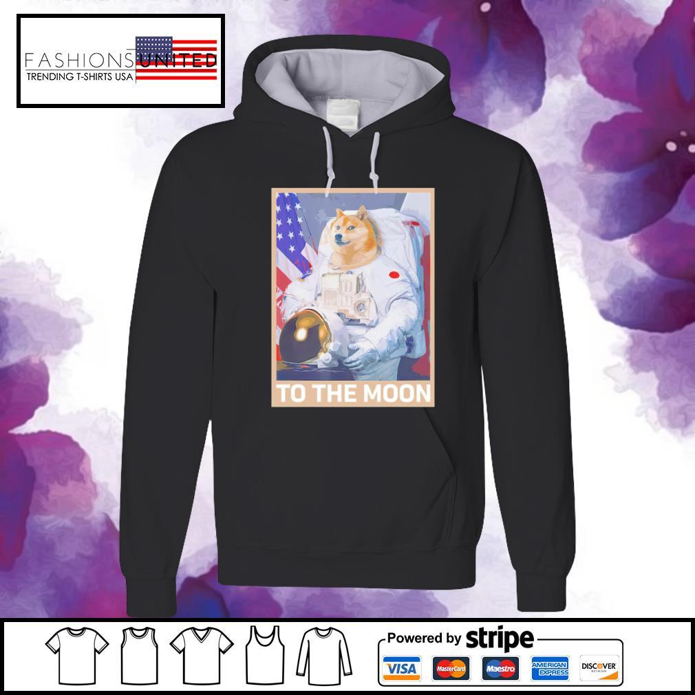 Dogecoin astronaut to the moon blockchain s hoodie