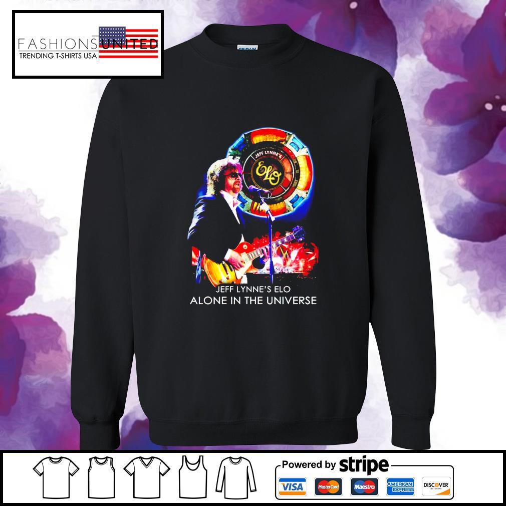 Jeff Lynne's Elo alone in the universe s sweater