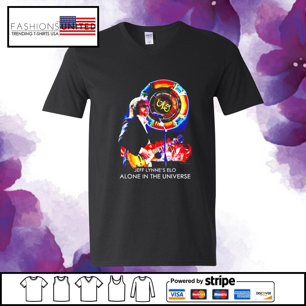 Jeff Lynne's Elo alone in the universe s v-neck-t-shirt
