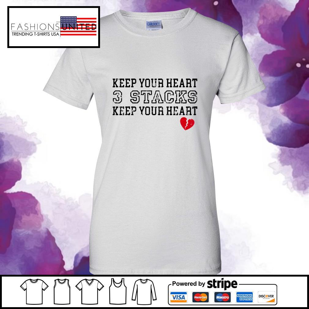 Keep your heart 3 stacks keep your heart s ladies-tee