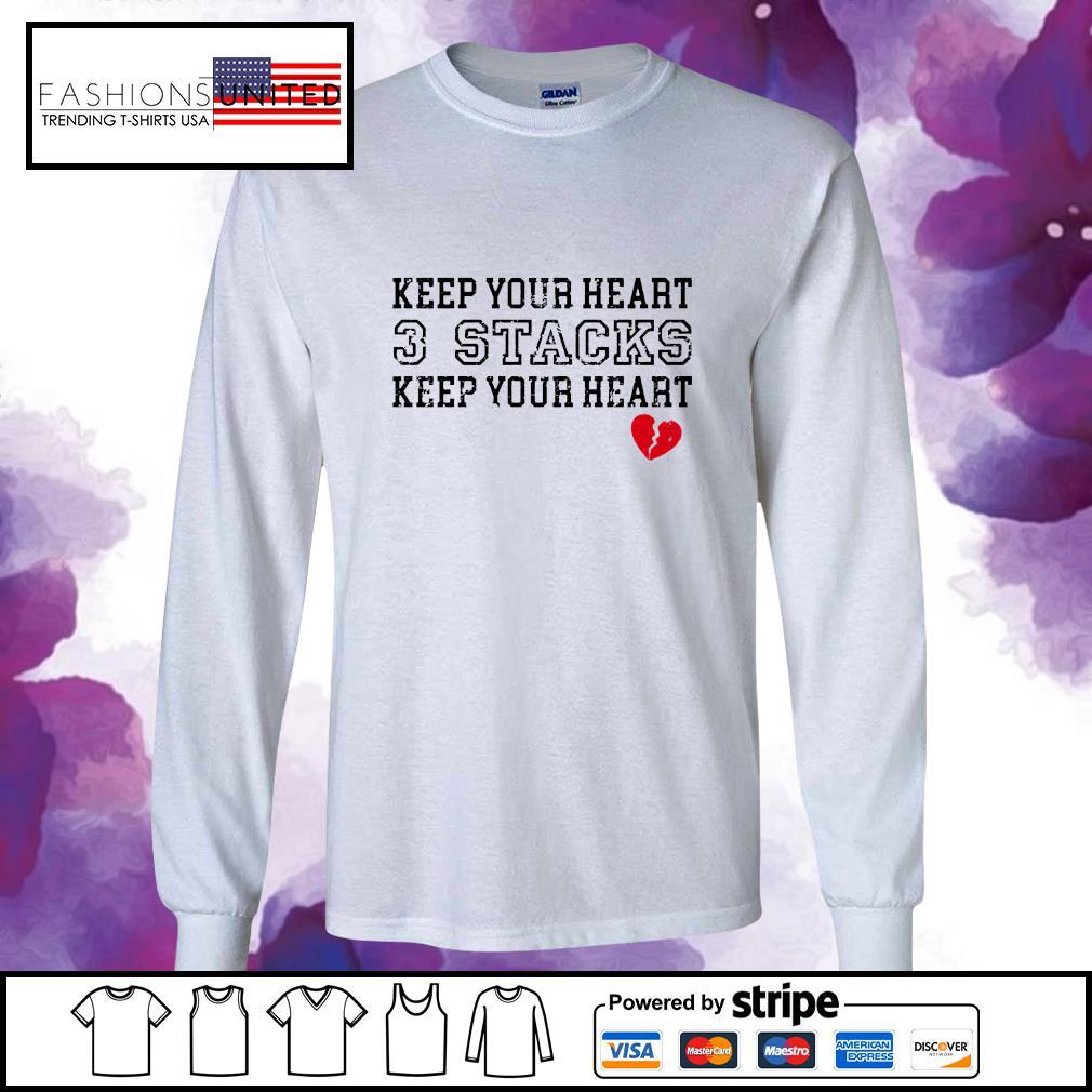 Keep your heart 3 stacks keep your heart s longsleeve-tee