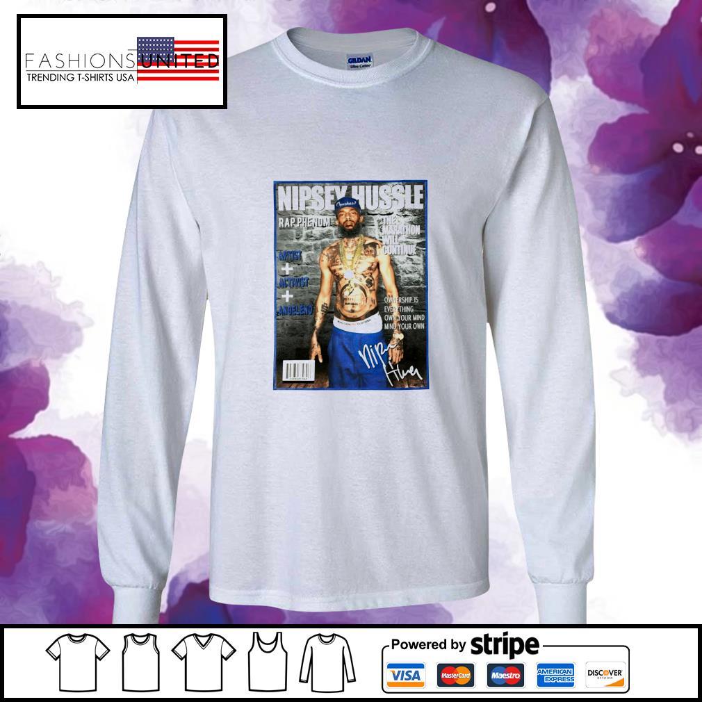 Nipsey Hussle rap phenom the marathon will continue signature s longsleeve-tee