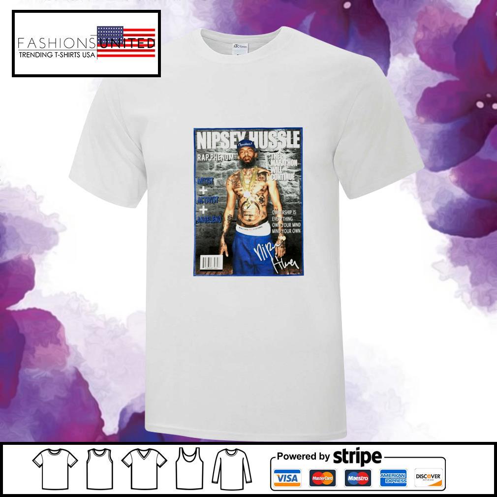 Nipsey Hussle rap phenom the marathon will continue signature shirt