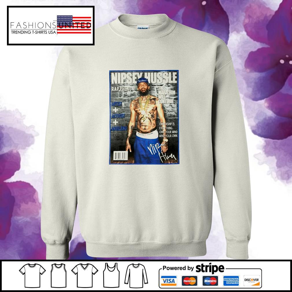 Nipsey Hussle rap phenom the marathon will continue signature s sweater