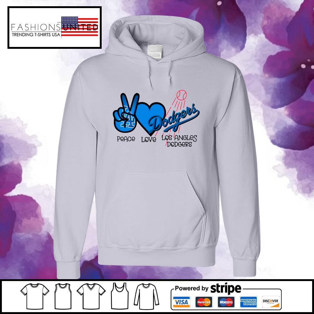 Peace love Los Angles Dodgers s hoodie