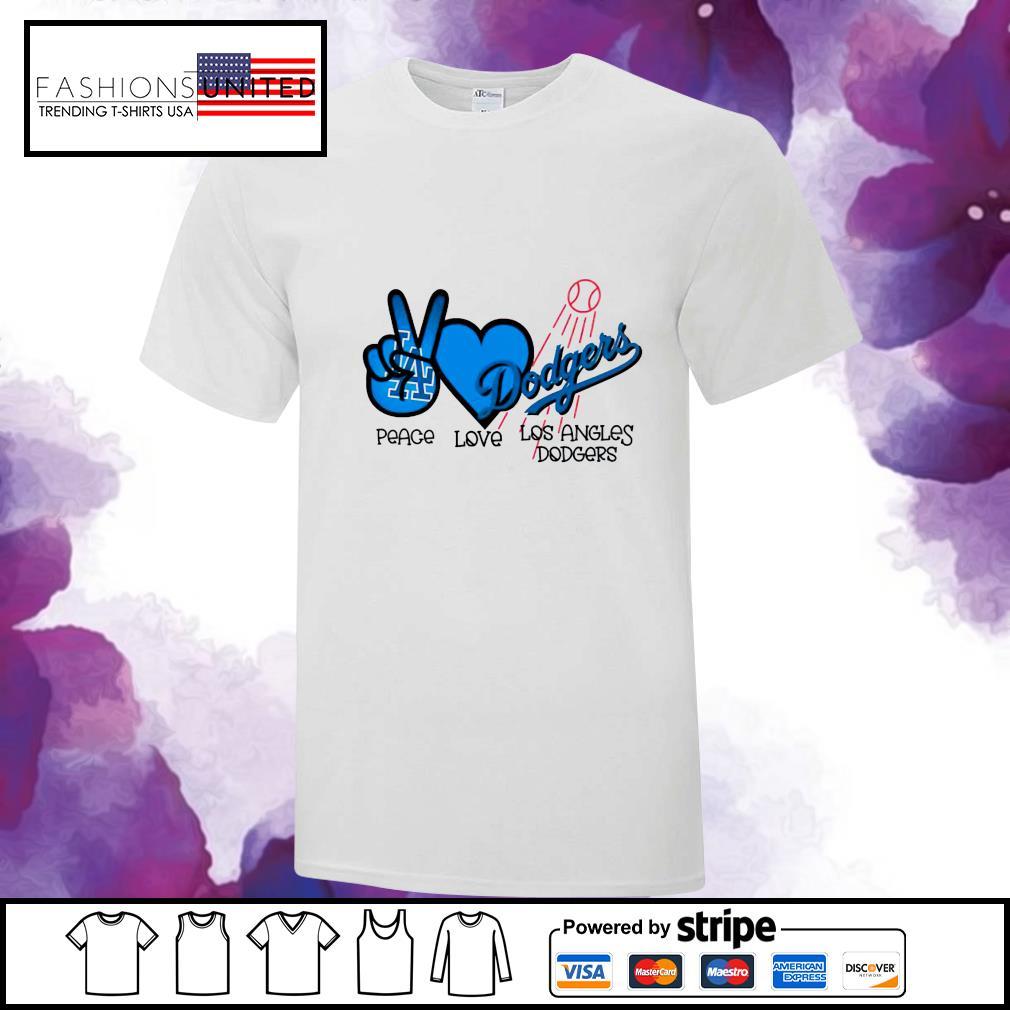 Peace love Los Angles Dodgers shirt