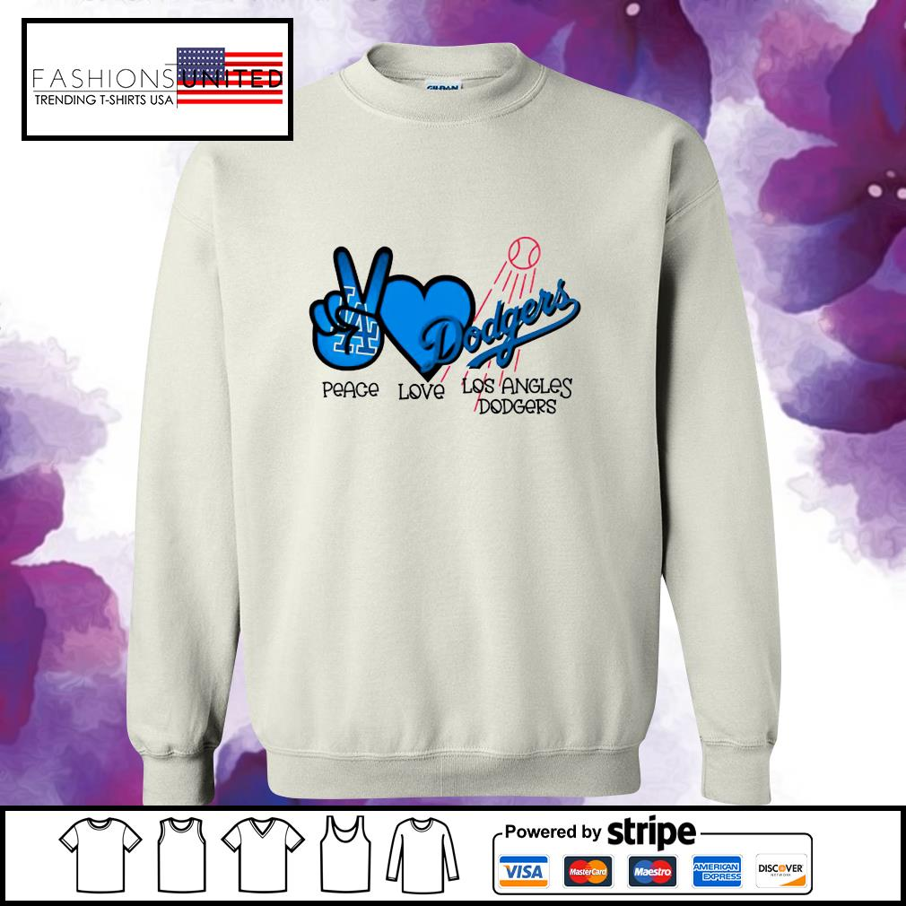 Peace love Los Angles Dodgers s sweater