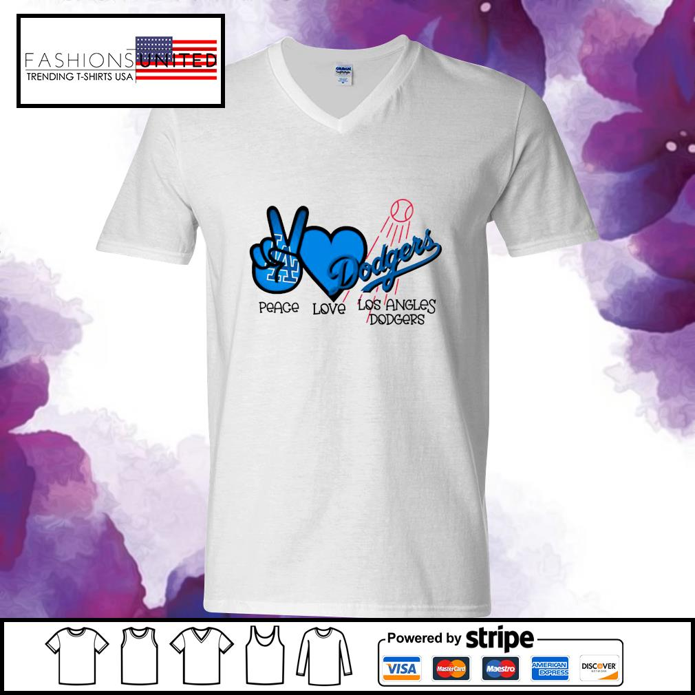Peace love Los Angles Dodgers s v-neck-t-shirt