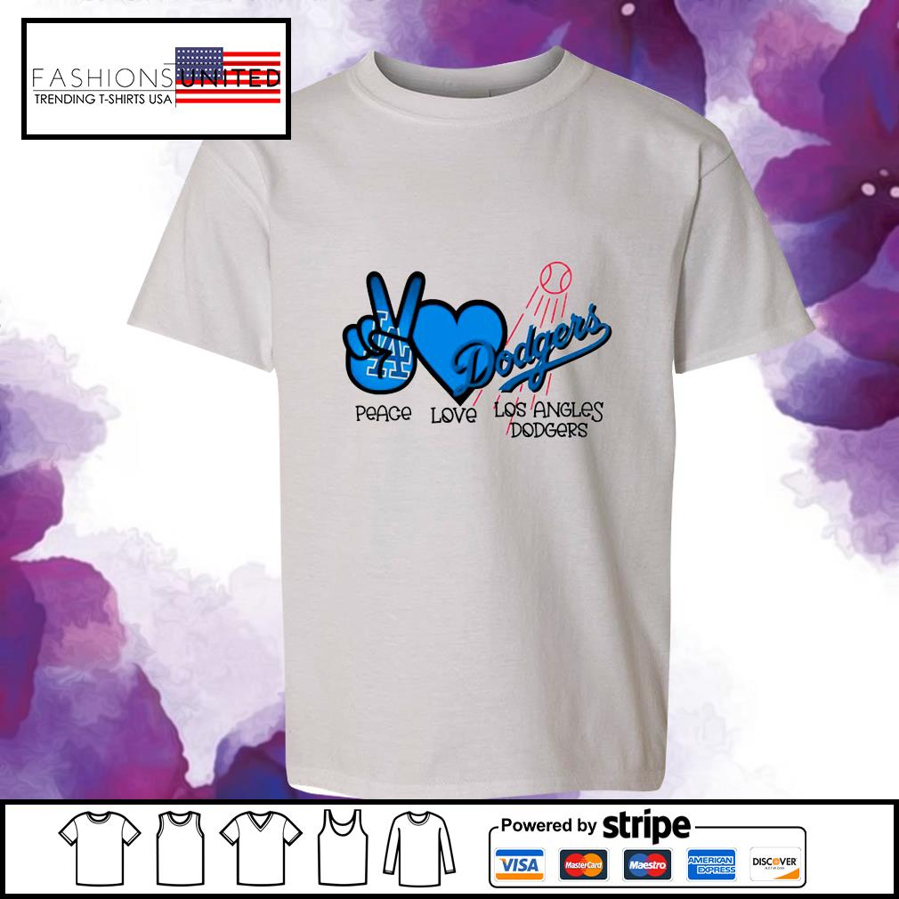 Peace love Los Angles Dodgers s youth-tee