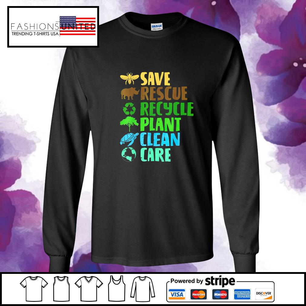 Save rescue recycle plant clean care s longsleeve-tee