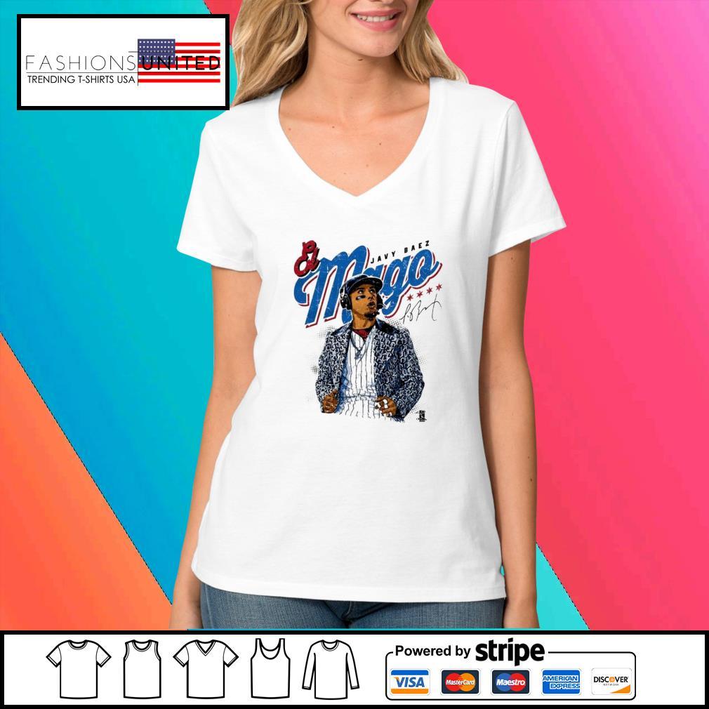 Javier Baez Baseball Mago signature s V-neck-t-shirt