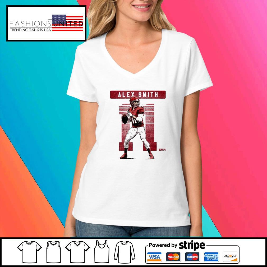 Kansas City Chiefs 11 Alex Smith NFLPA s V-neck-t-shirt