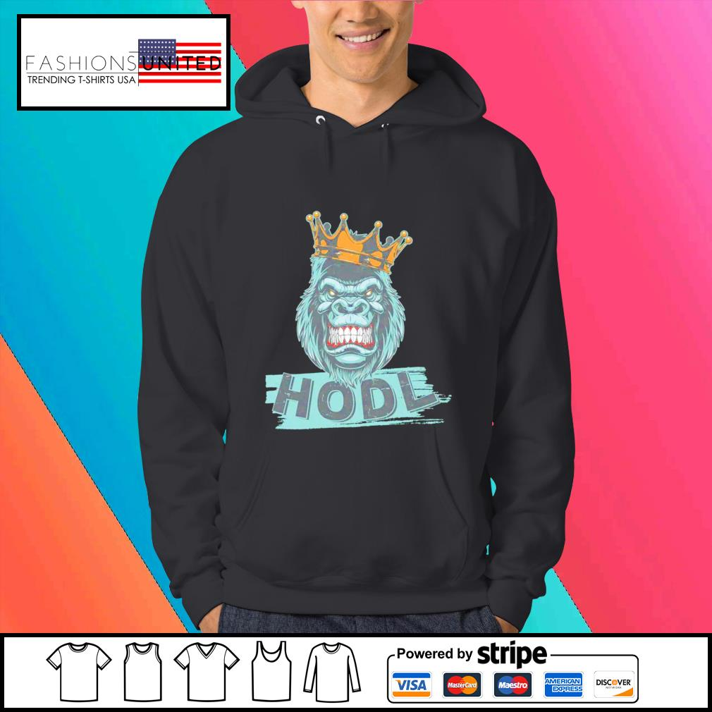 King gorilla apes hodl wall street stock s Hoodie