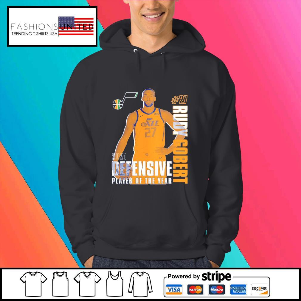 Rudy Gobert Utah Jazz 2021 NBA Defensive Player of the year s Hoodie