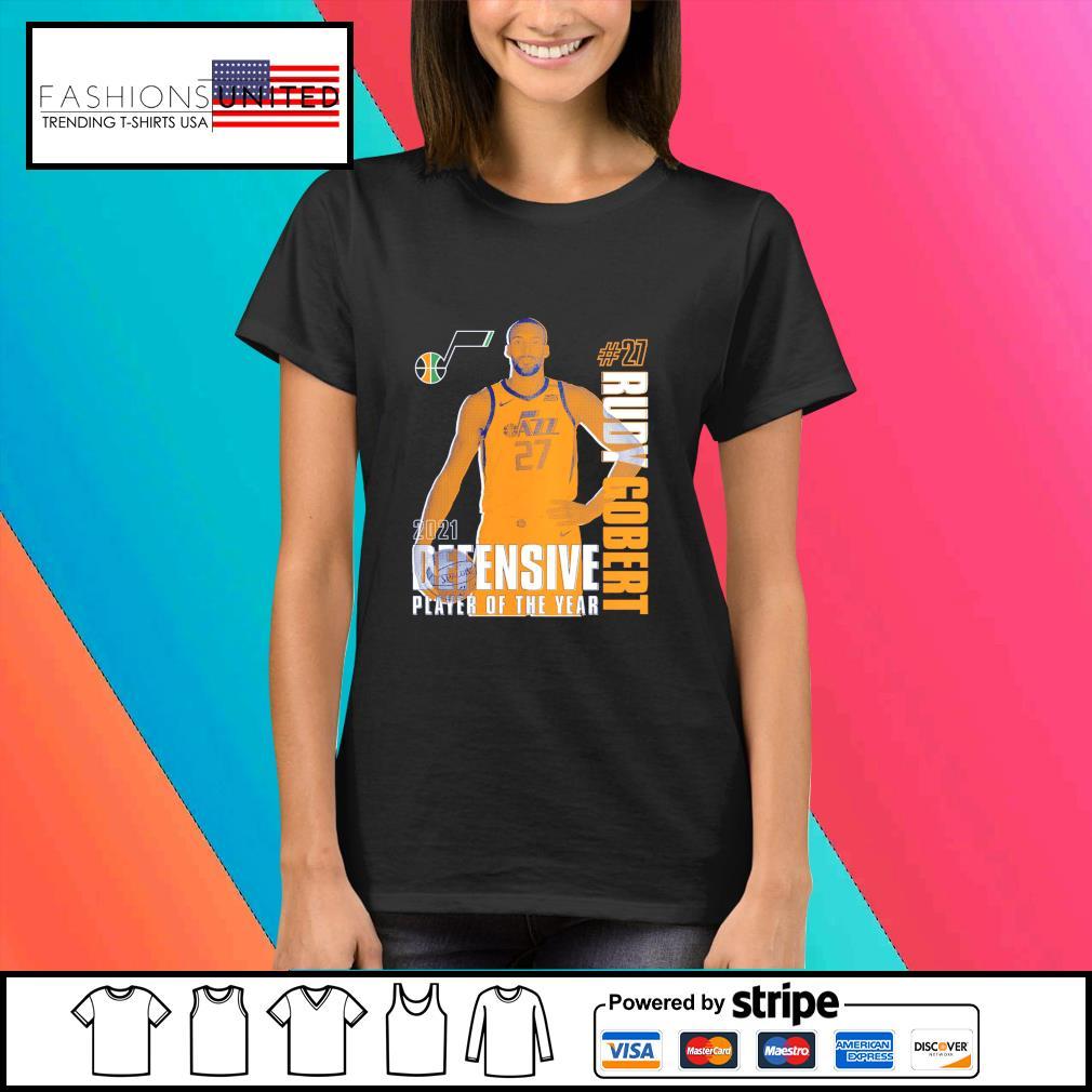 Rudy Gobert Utah Jazz 2021 NBA Defensive Player of the year s Ladies-tee