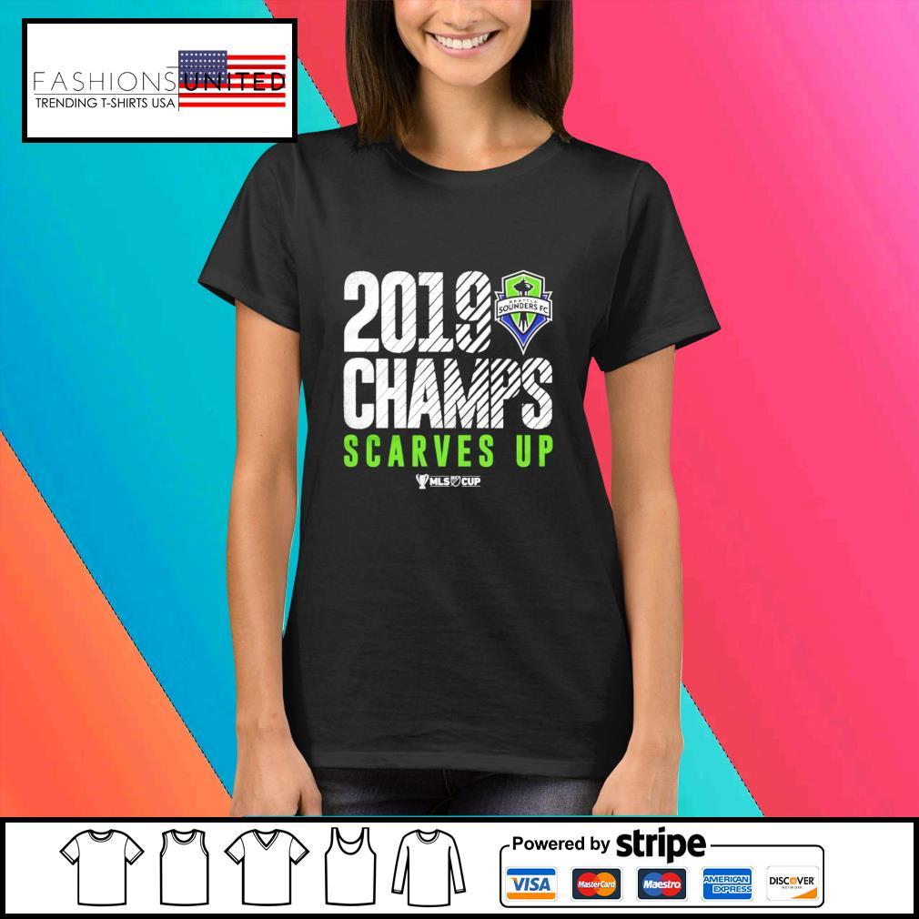 Seattle Sounders FC 2019 MLS Cup Champions s Ladies-tee
