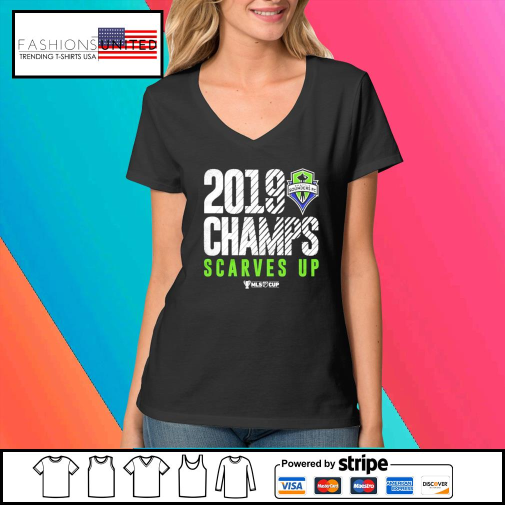 Seattle Sounders FC 2019 MLS Cup Champions s V-neck-t-shirt