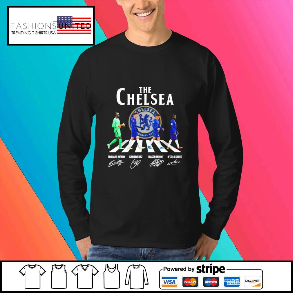 The Chelsea Edouard Mendy Kai havertz Mason Mount and N'golo Kante signature s Sweater