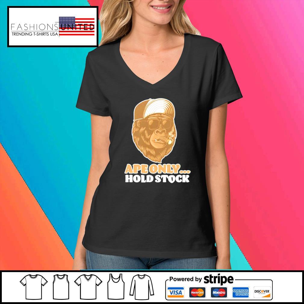 The Stock AMC apes only hold s V-neck-t-shirt
