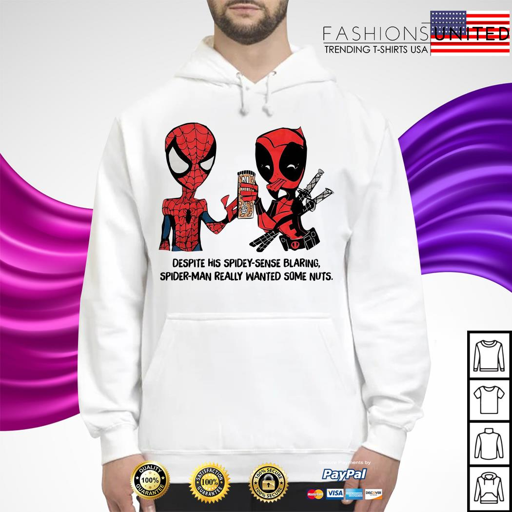 Despite his spidey-sense blaring Spider-Man really wanted some nuts Hoodie