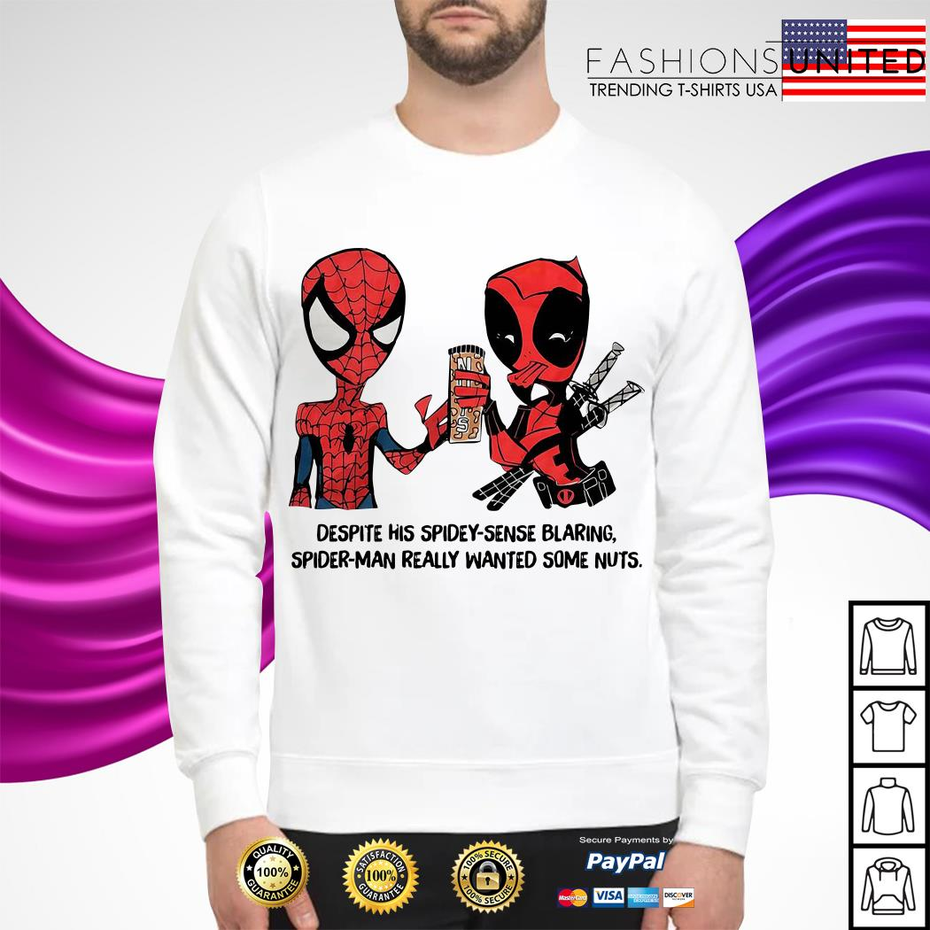 Despite his spidey-sense blaring Spider-Man really wanted some nuts Sweater