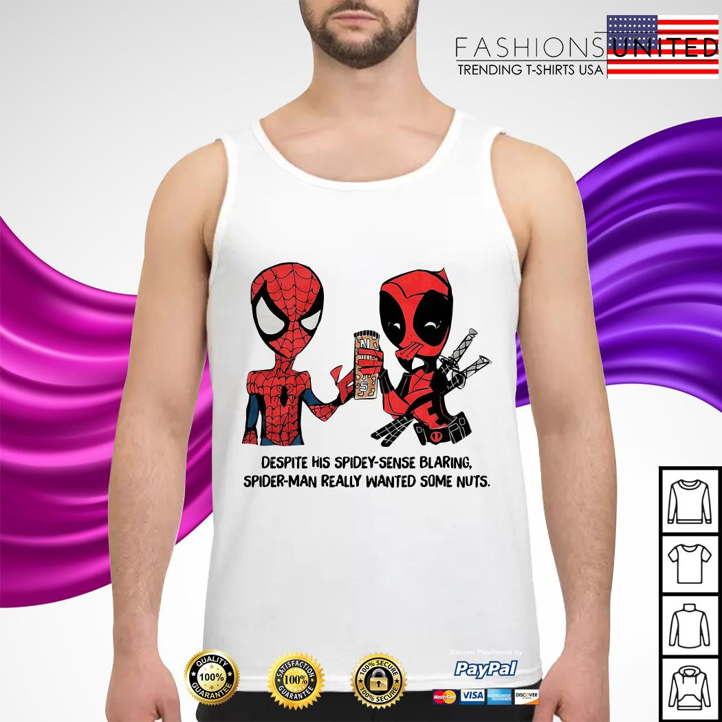Despite his spidey-sense blaring Spider-Man really wanted some nuts Tank-top
