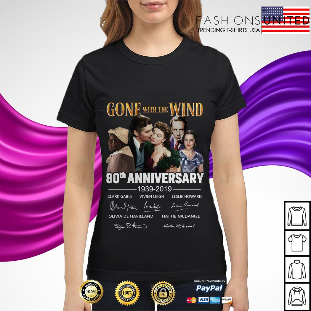Gone with the wind 80th Anniversary 1939 2019 signature Ladies Tee