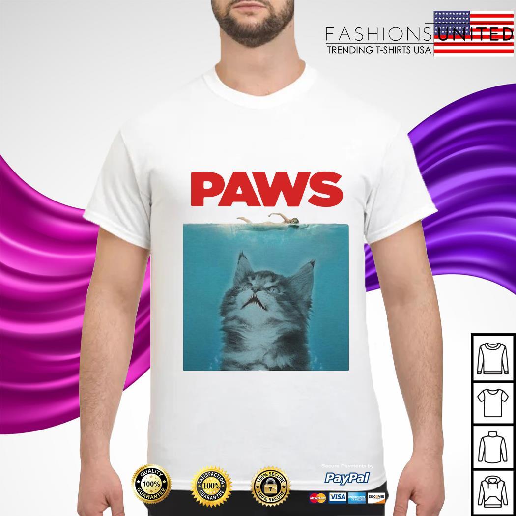 Paws cat shirt