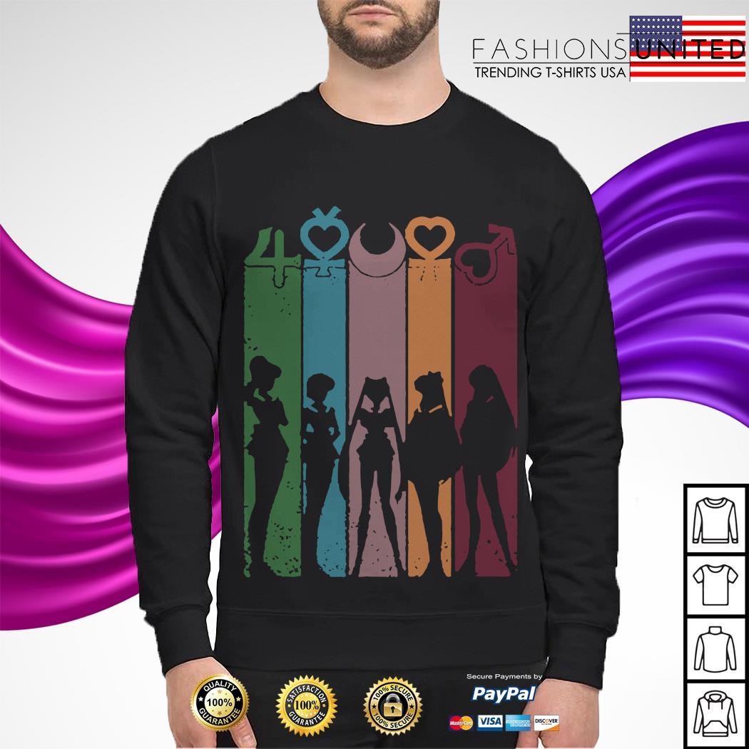 Sailor moon character panels Sweater