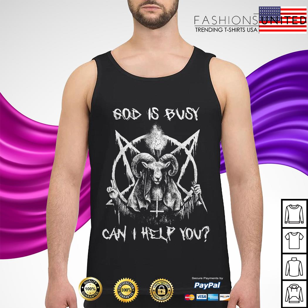 Satan God is can I help you Tank-top