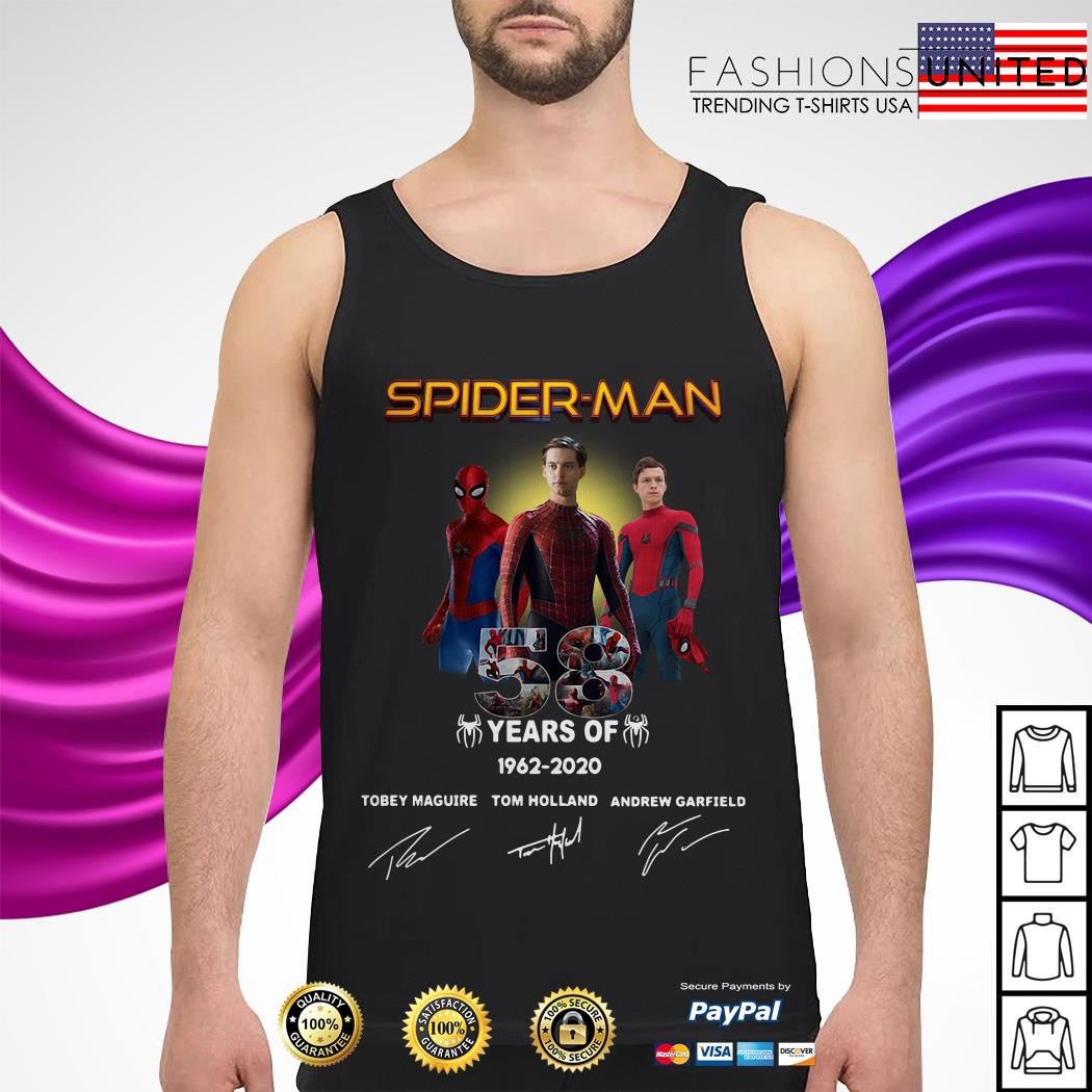 Spider Man 58 years Anniversary 1962-2020 signature Tank-top