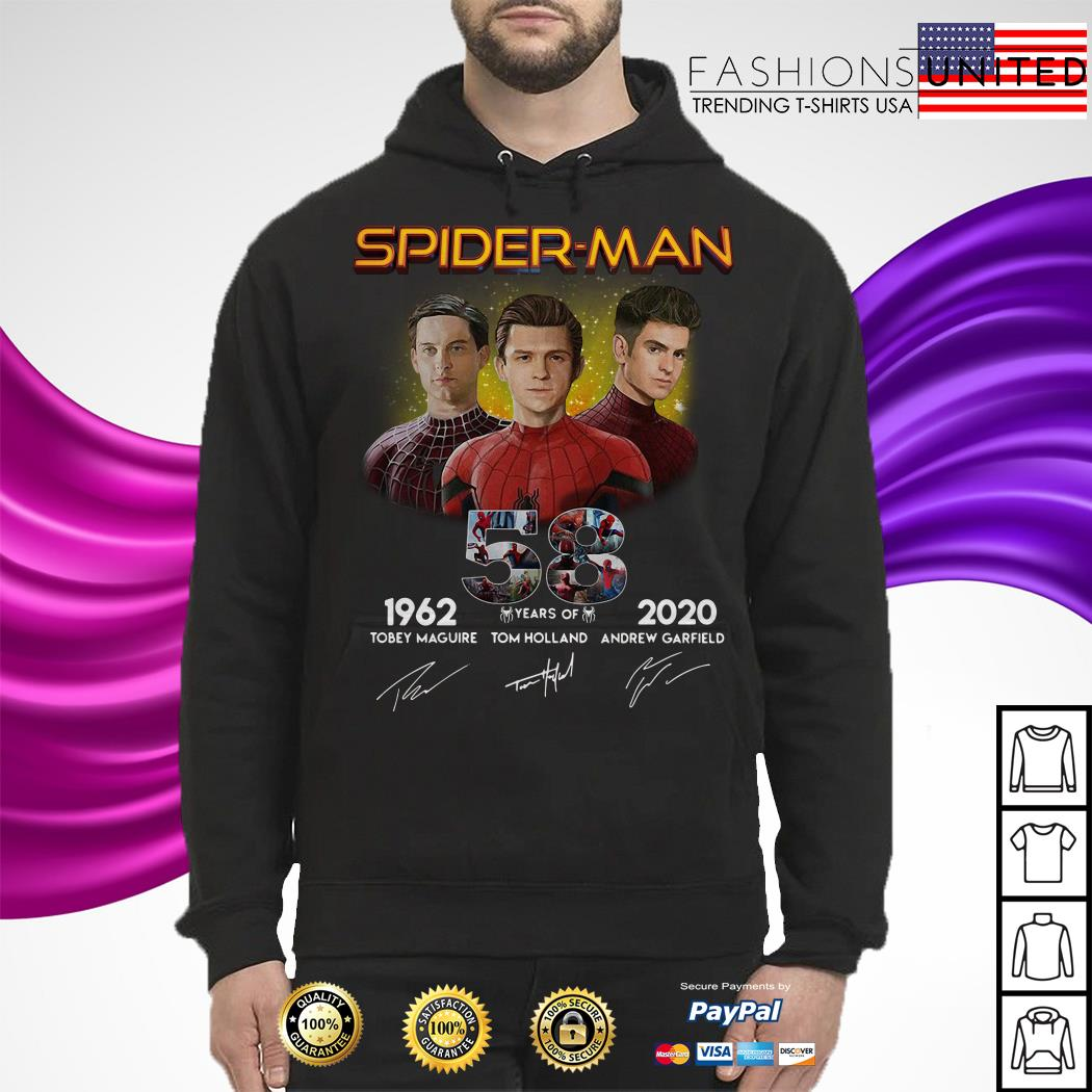 Spider-Man 58 years of 1962 2020 signature Hoodie