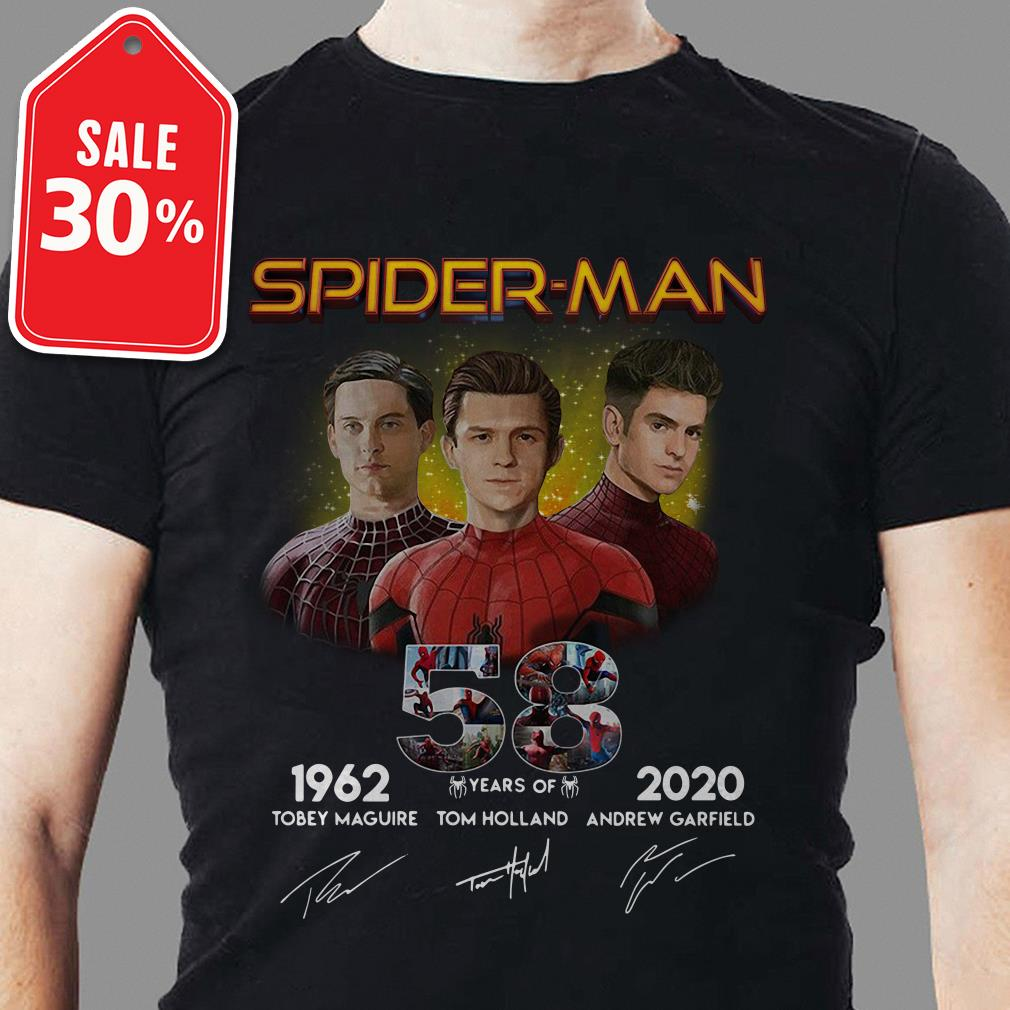 Spider-Man 58 years of 1962 2020 signature shirt
