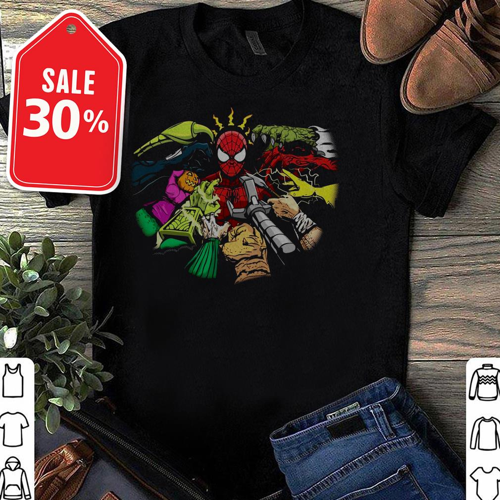 Spider-Man and hands characters shirt