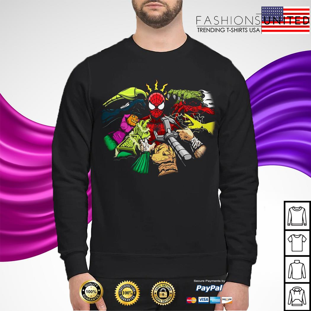 Spider-Man and hands characters Sweater