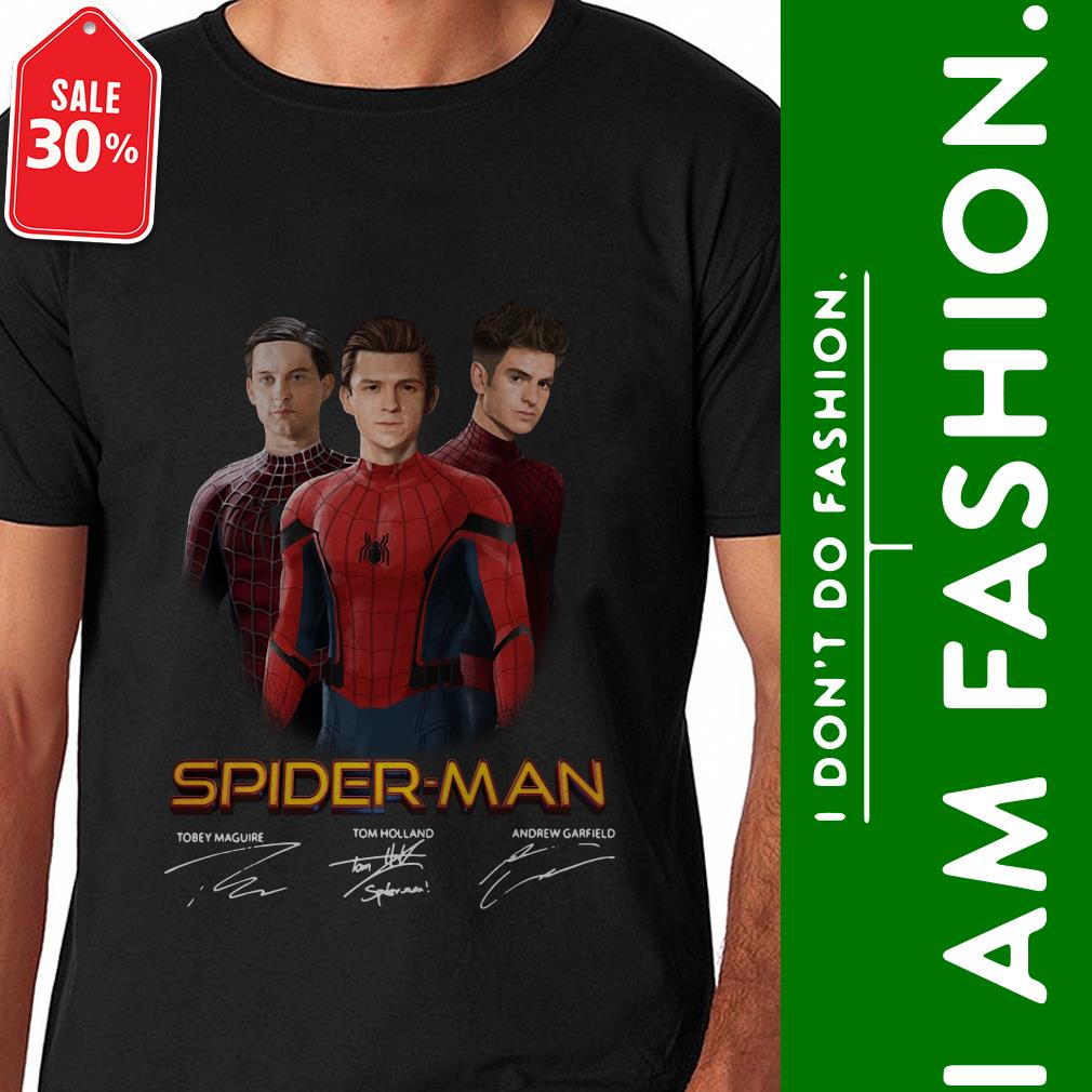 Spider-Man Tobey Maguire Tom Holland Andrew Garfield shirt